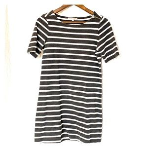 Gap gray  and white stripped dress